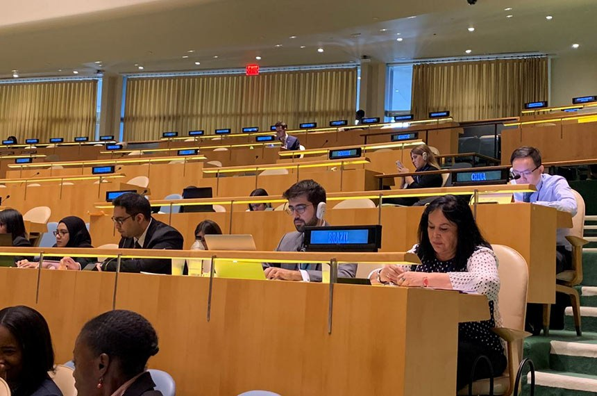 Senadora acompanha os debates da 74ª Assembleia Geral da ONU como representante do Senado