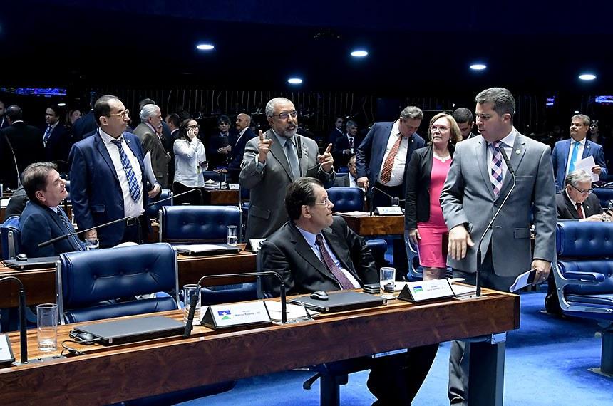 Plenário do Senado Federal durante sessão deliberativa extraordinária. Ordem do dia.  Em pronunciamento, senador Paulo Paim (PT-RS).     Foto: Waldemir Barreto/Agência Senado