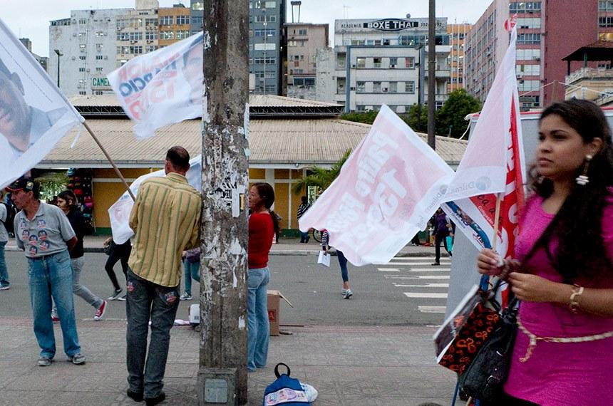 Eleicoes 2010  Campanha eleitoral nas ruas do Centro de Florianópolis.
