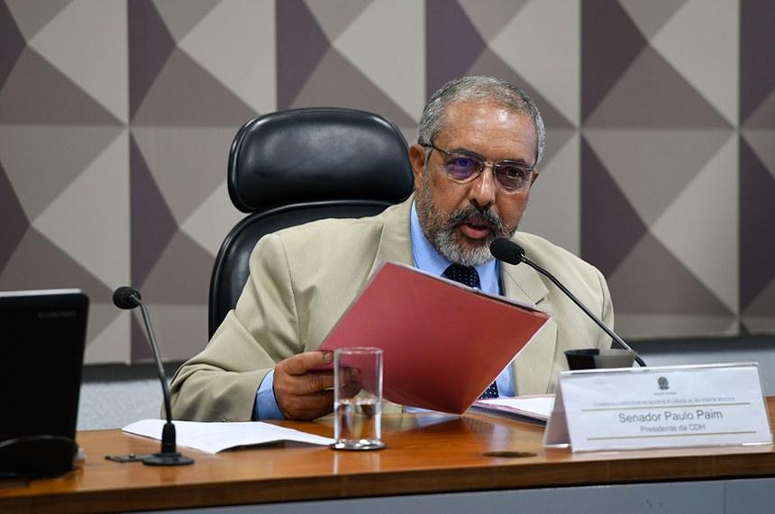 A reunião faz parte de um ciclo de audiências proposto pelo presidente do colegiado, o senador Paulo Paim