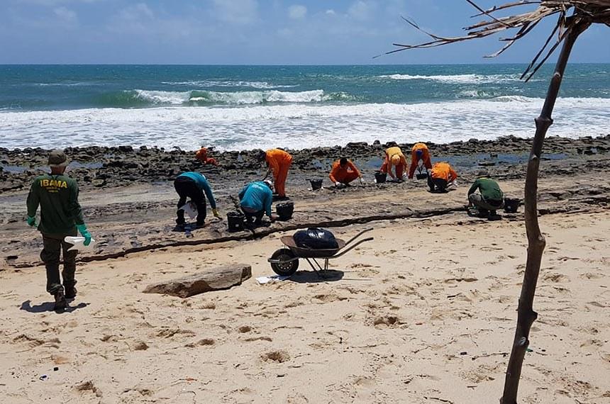 Mais 500 litros de óleo são retirados de cinco praias de Fortaleza, diz prefeitura Além da substância, equipe da Secretaria de Urbanismo e Meio Ambiente (Seuma) recolheram cerca de quatro toneladas de outros resíduos.