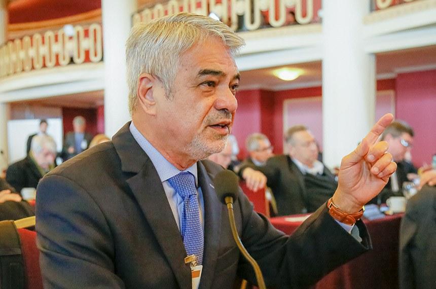 Montevidéu - Uruguai, 14/10/2019. Senador Humberto Costa, Líder do PT no Senador, durante a LXVIII  Sessão do Parlasul. Foto: Roberto Stuckert Filho