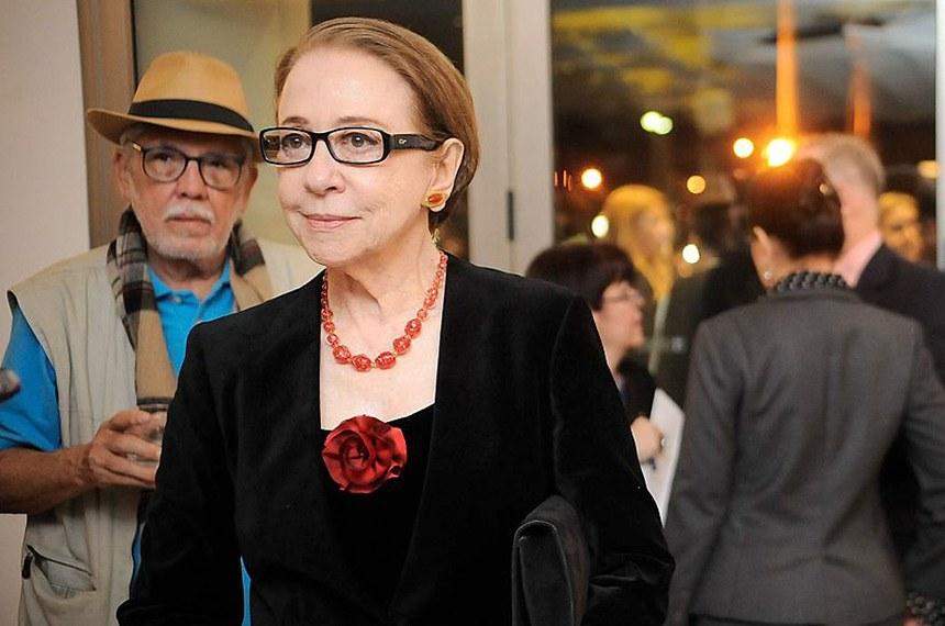 Fernanda Montenegro na cerimônia na Sala Cecília Meireles em comemoração aos 50 anos do Museu da Imagem e do Som (MIS). 2015