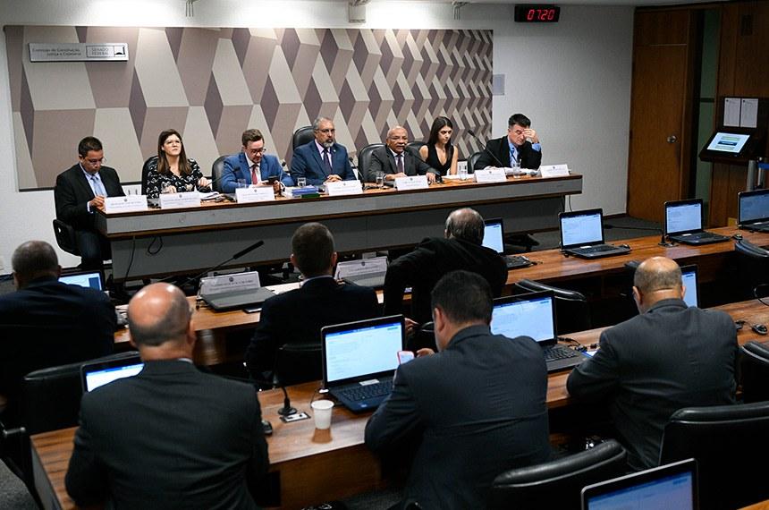 Comissão de Constituição, Justiça e Cidadania (CCJ) realiza   Foto: Pedro França/Agência Senado