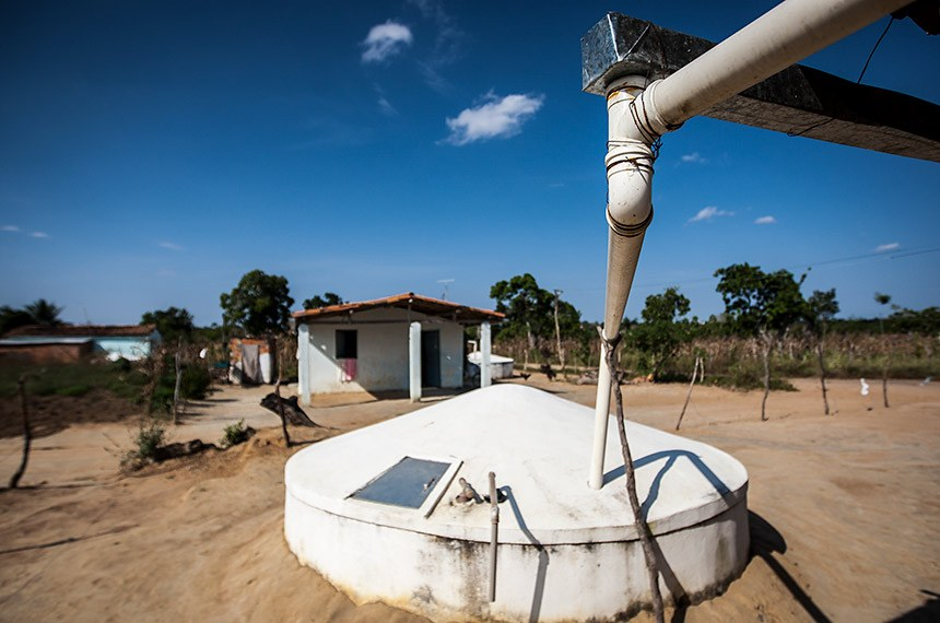 Cisterna instalada em residência na cidade de Serrinha na Bahia.