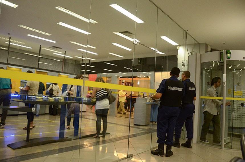Vista de agência do Banco do Brasil.