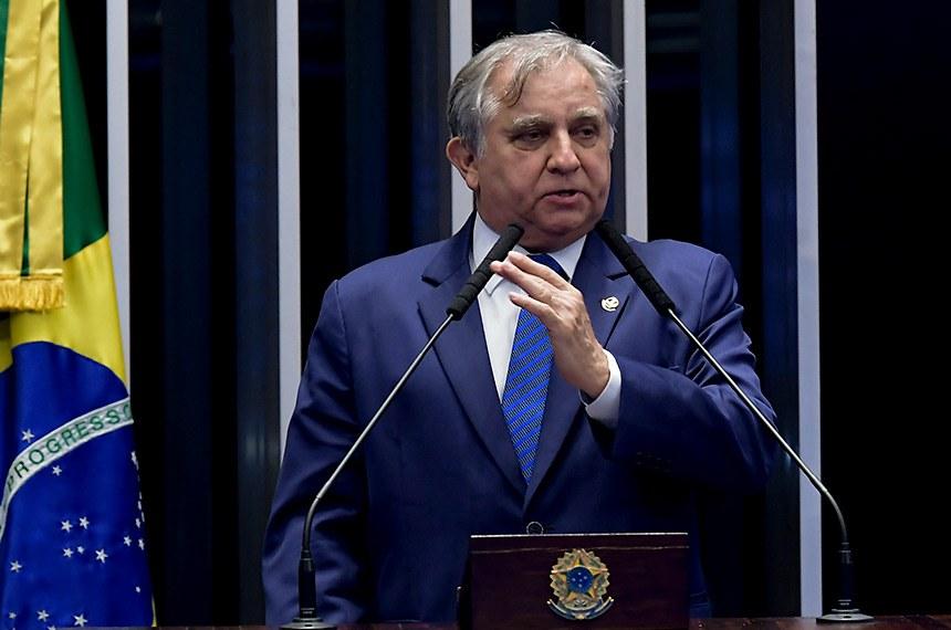 Plenário do Senado Federal durante sessão não deliberativa.   Em discurso, à tribuna, senador Izalci (PSDB-DF).   Foto: Waldemir Barreto/Agência Senado