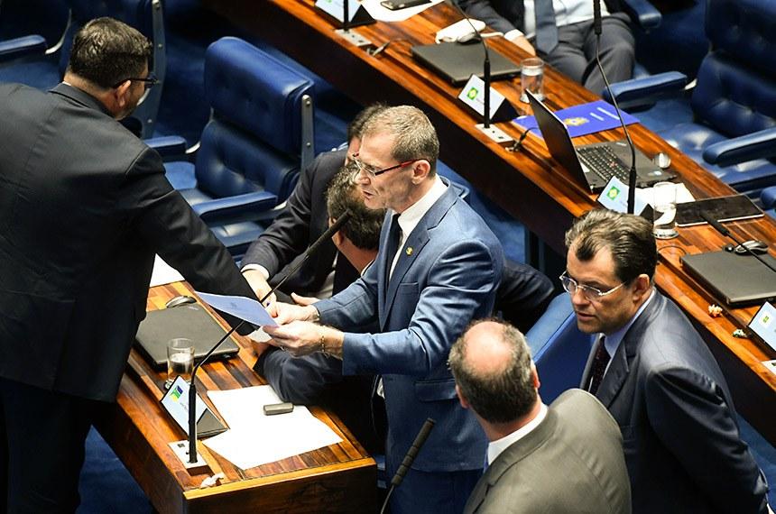 O senador Fabiano Contarato, em pronunciamento, fará parte da Comissão