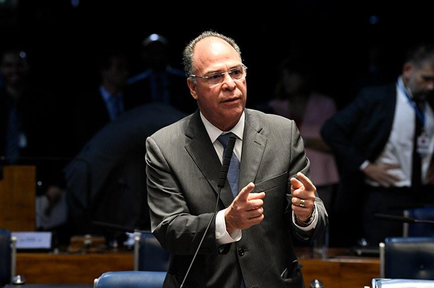 Plenário do Senado Federal durante sessão deliberativa ordinária.   À bancada, em pronunciamento, senador Fernando Bezerra Coelho (MDB-PE).  Foto: Jefferson Rudy/Agência Senado