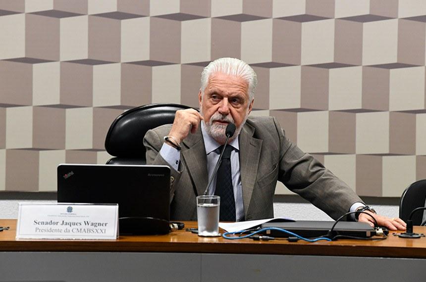 Subcomissão Temporária Brasil Século XXI (CMABSXXI ) realiza reunião para instalação e eleição de presidente e vice.   Presidente da CMABSXXI, senador Jaques Wagner (PT-BA) em pronunciamento.  Foto: Jefferson Rudy/Agência Senado
