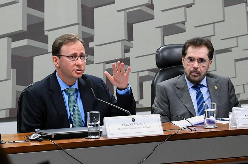 Fabio Kanczuk e o senador Plinio Valério