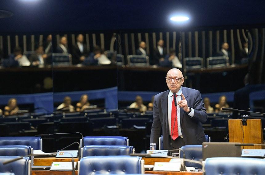 Plenário do Senado Federal durante sessão deliberativa ordinária. Ordem do dia.  Em pronunciamento, à bancada, senador Esperidião Amin (PP-SC).  Foto: Roque de Sá/Agência Senado