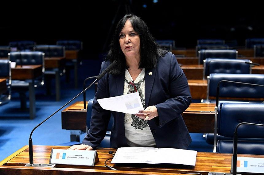 Plenário do Senado Federal durante sessão deliberativa ordinária.   À bancada, em pronunciamento, senadora Rose de Freitas (Podemos-ES).  Foto: Jefferson Rudy/Agência Senado