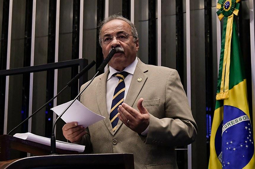 Plenário do Senado Federal durante sessão deliberativa ordinária.   À tribuna, em discurso, senador Chico Rodrigues (DEM-RR).  Foto: Waldemir Barreto/Agência Senado
