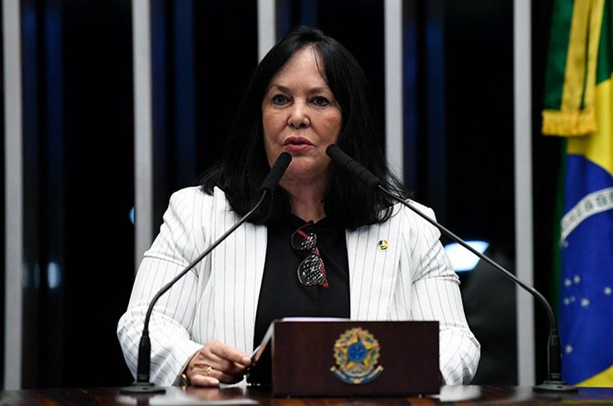 Plenário do Senado Federal durante sessão não deliberativa.   À tribuna, em discurso, senadora Rose de Freitas (Podemos-ES).  Foto: Jefferson Rudy/Agência Senado