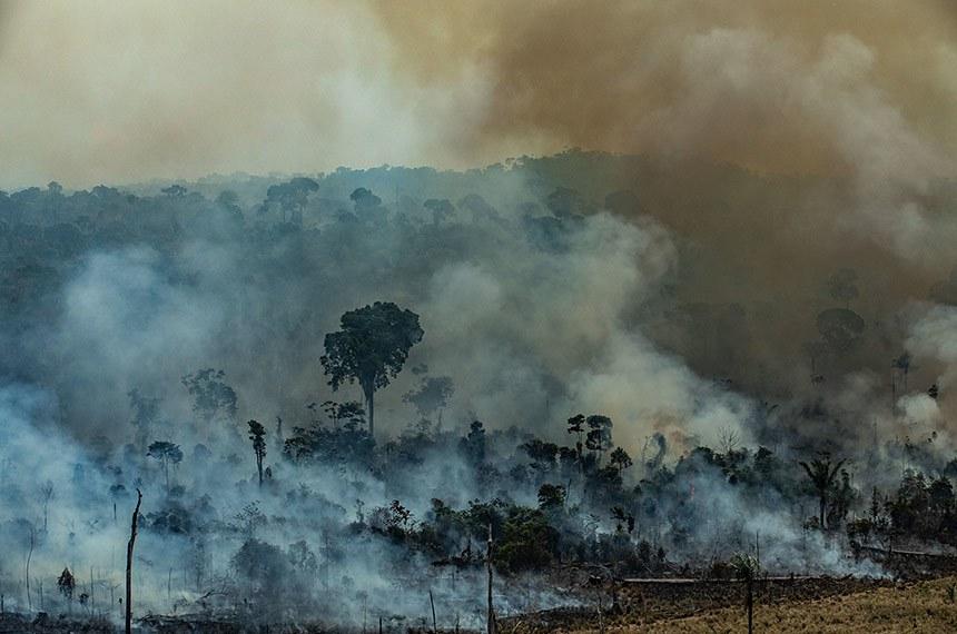 ALTAMIRA, PARÁ, BRASIL: Imagem aérea de queimadas na cidade de Altamira, Estado do Pará.  O número de focos de incêndio registrados na Amazônia em 2019 é um dos maiores nos últimos anos. De janeiro a 20 de agosto, o número de incêndios na região foi 145% maior que no mesmo período de 2018. O Greenpeace fez um sobrevôo em vários locais da Amazônia para documentar e registrar a extensão da destruição causada por incêndios e desmatamento. Foto: Victor Moriyama / Greenpeace