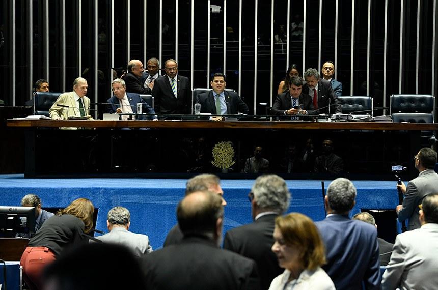 Plenário do Senado Federal durante sessão deliberativa ordinária. Ordem do dia.  Foto: Jefferson Rudy/Agência Senado