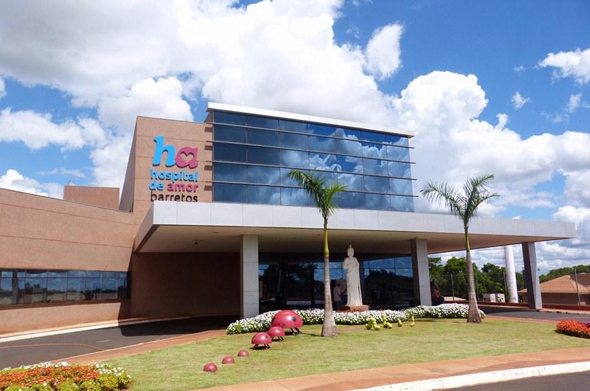 Fachada do Hospital de Amor, antigo Hospital do Câncer, de Barretos (SP)
