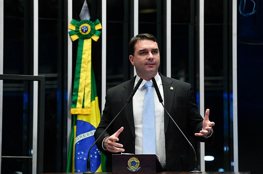 Plenário do Senado Federal durante sessão deliberativa ordinária. Ordem do dia.   À tribuna, em discurso, senador Flávio Bolsonaro (PSL-RJ).  Foto: Roque de Sá/Agência Senado