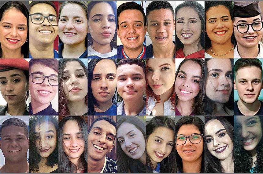 São 27 alunos do ensino médio de escolas públicas, representando os 26 estados e o Distrito Federal