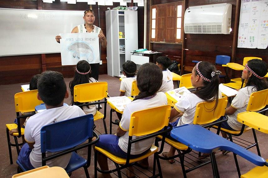 17.04.2019 Unicef Visita a Escola indigena 3unidos 17.04.2019 Unicef Visita a Escola indígena 3unidos. Foto: Rodemarques Abreu