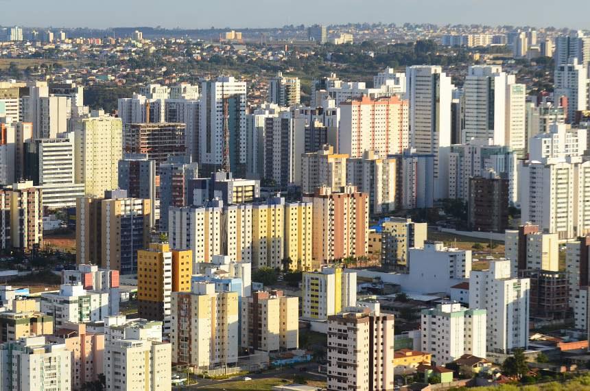 Vista aérea de Águas Claras - Brasília/DF.   Foto: Ana Volpe/Agência Senado