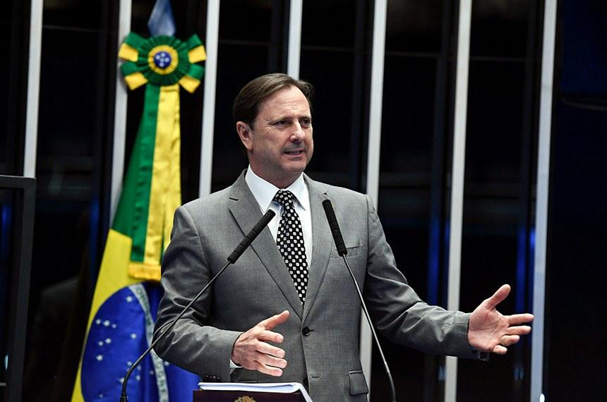 Plenário do Senado Federal durante sessão não deliberativa.   Em discurso, à tribuna, senador Acir Gurgacz (PDT-RO).  Foto: Edilson Rodrigues/Agência Senado