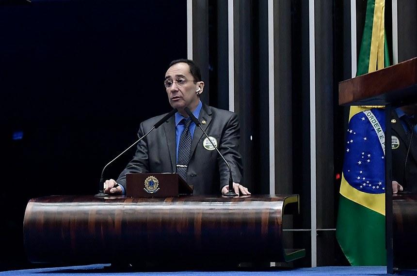 Plenário do Senado Federal durante sessão deliberativa ordinária.   Em discurso, à tribuna, senador Jorge Kajuru (Cidadania-GO).  Foto: Waldemir Barreto/Agência Senado