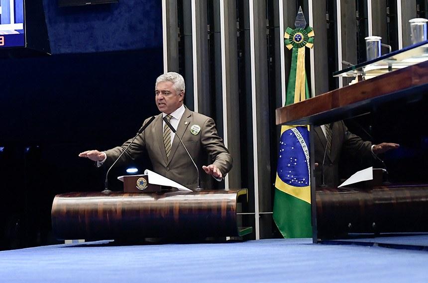 Plenário do Senado Federal durante sessão deliberativa ordinária.   Em discurso, à tribuna, senador Major Olimpio (PSL-SP).  Foto: Waldemir Barreto/Agência Senado