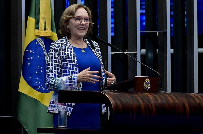 Plenário do Senado Federal durante sessão deliberativa ordinária.   Em discurso, à tribuna, senadora Zenaide Maia (Pros-RN).  Foto: Waldemir Barreto/Agência Senado