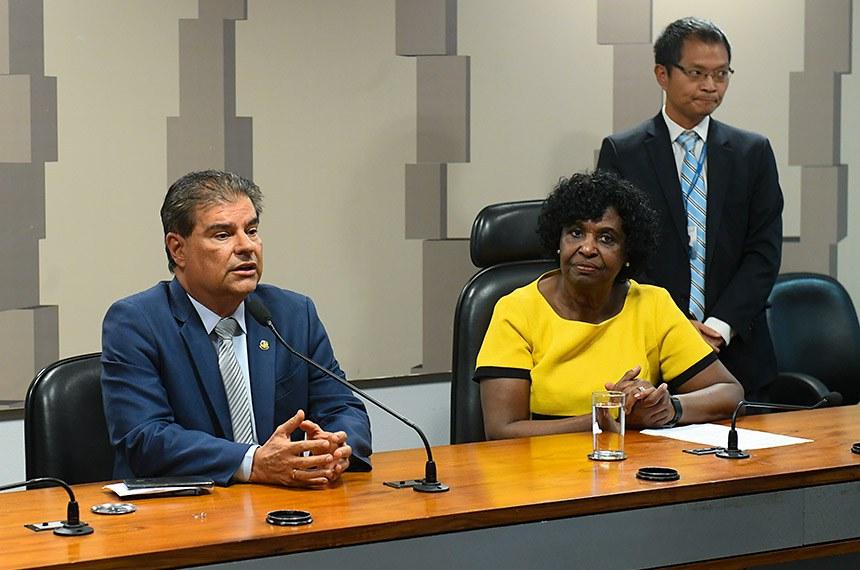 Comissão Mista da Medida Provisória (CMMPV) nº 902/2019 (acaba com monopólio da Casa da Moeda) realiza reunião para intlação e eleição da Mesa.  Instalada a comissão, é eleita presidente a deputada Benedita da Silva (PT-RJ) e designado relator o senador Nelsinho Trad (PSD-MS).  Foto: Marcos Oliveira/Agência Senado