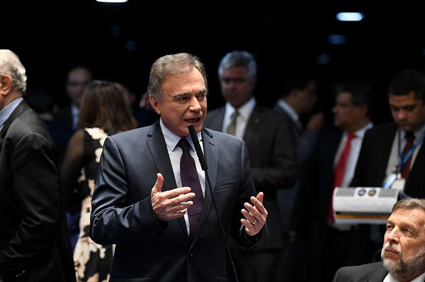 Plenário do Senado Federal durante sessão deliberativa ordinária. Ordem do dia.  Em pronunciamento, senador Alvaro Dias (Podemos-PR).  Foto: Jefferson Rudy/Agência Senado