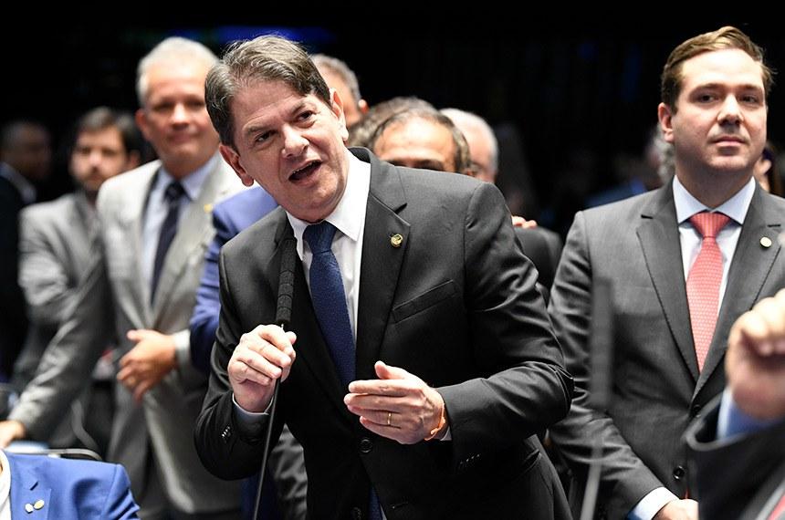 Plenário do Senado Federal durante sessão deliberativa ordinária. Ordem do dia.  Em pronunciamento, à bancada, senador Cid Gomes (PDT-CE).  Foto: Jefferson Rudy/Agência Senado