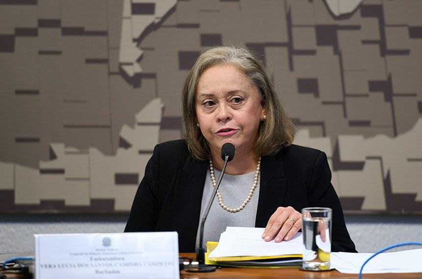 Vera Lúcia Campetti foi sabatinada em outubro na Comissão de Relações Exteriores
