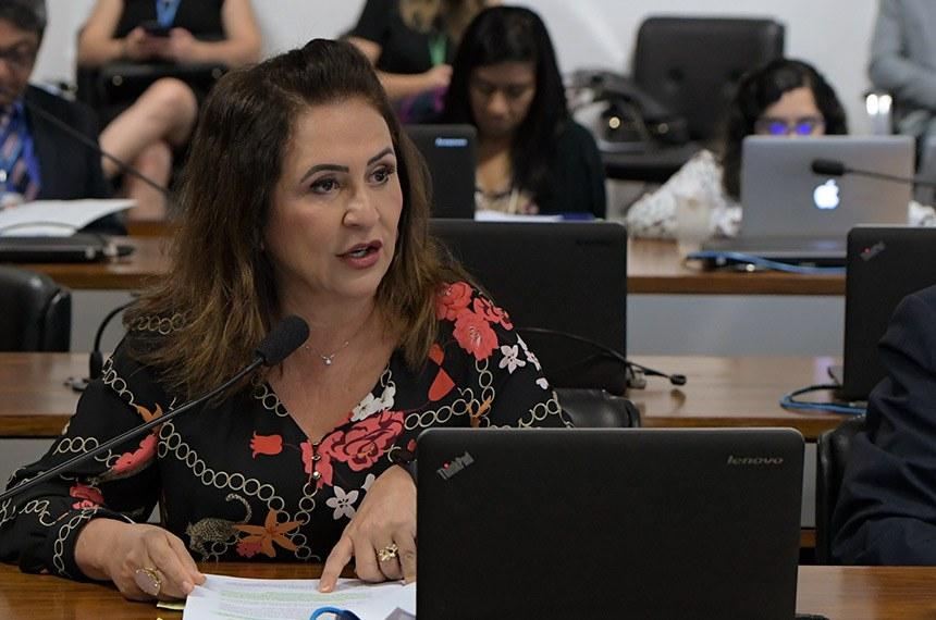 Comissão de Ciência, Tecnologia, Inovação, Comunicação e Informática (CCT) realiza reunião para apreciação do relatório de avaliação de política pública.  Em pronunciamento, senadora Kátia Abreu (PDT-TO).  Foto: Pedro França/Agência Senado