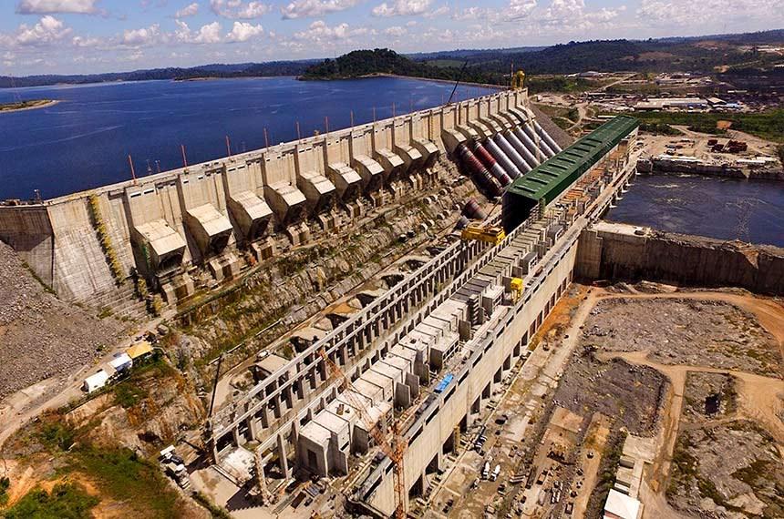Usina hidrelétrica de Belo Monte, no Pará.