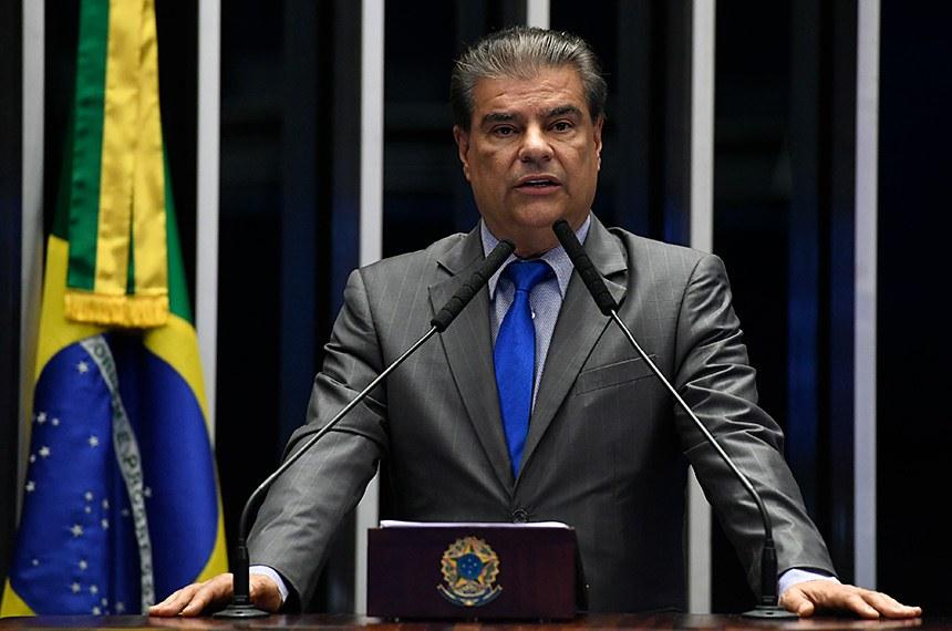 Plenário do Senado Federal durante sessão não deliberativa.   Em discurso, à tribuna, senador Nelsinho Trad (PSD-MS).  Foto: Roque de Sá/Agência Senado