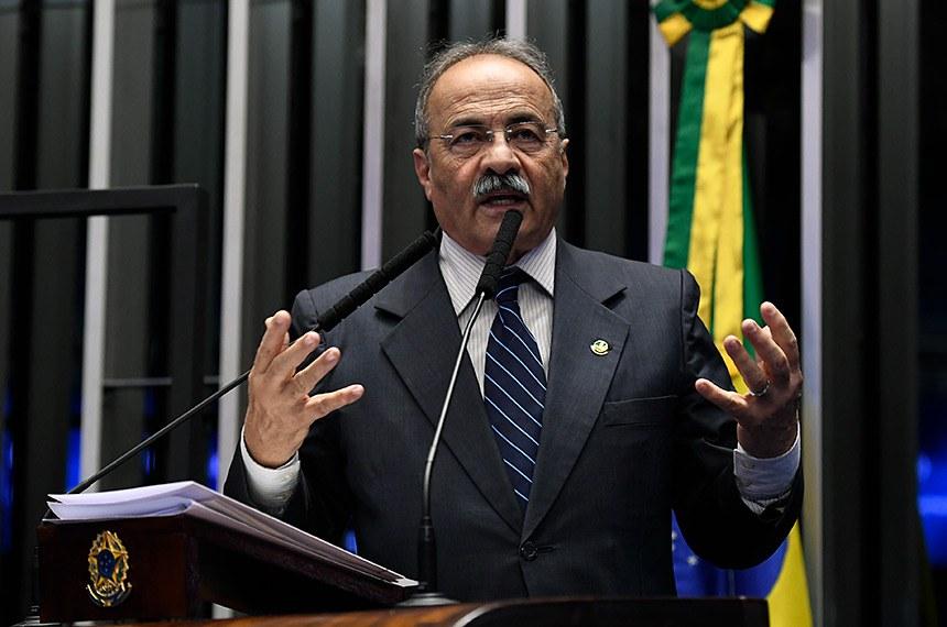 Plenário do Senado Federal durante sessão não deliberativa.   Em discurso, à tribuna, senador Chico Rodrigues (DEM-RR).  Foto: Roque de Sá/Agência Senado