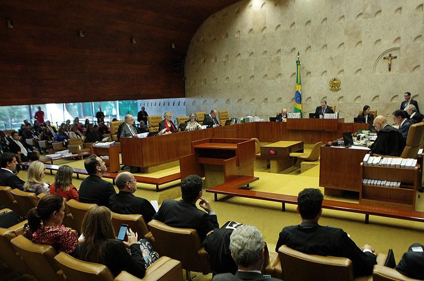 Vista geral do Supremo Tribunal Federal ( STF) durante sessão plenária.   Presidente do Supremo Tribunal Federal, ministro Dias Toffol ao centro conduz sessão.   Foto: Rosinei Coutinho/SCO/STF.
