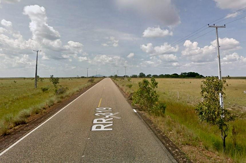 A estrada liga duas rodovias federais que atravessam territórios indígenas (imagem de novembro de 2012, de local próximo à interseção com a BR-174)
