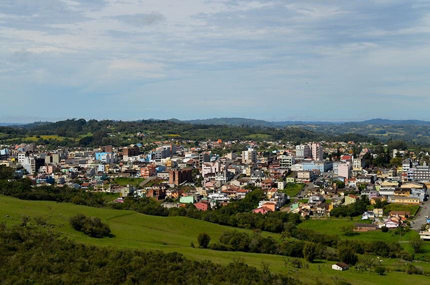 Vista geral da cidade de Canguçu-RS. Panorâmica