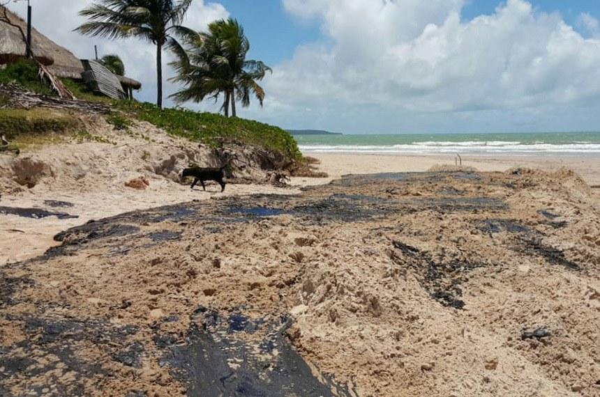 Praia de Coruripe, em Alagoas, foi uma das localidades atingidas pelo óleo