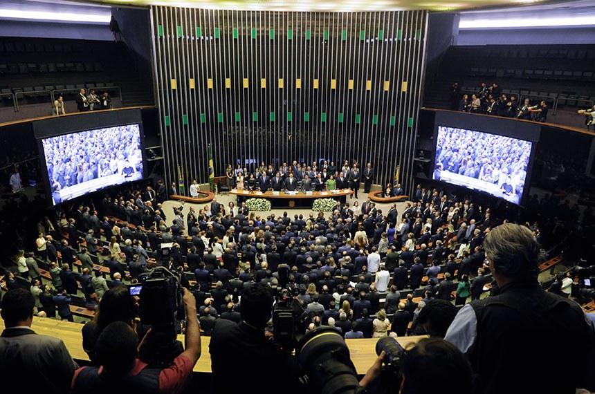 Sessão de abertura dos trabalhos do Congresso em fevereiro de 2019