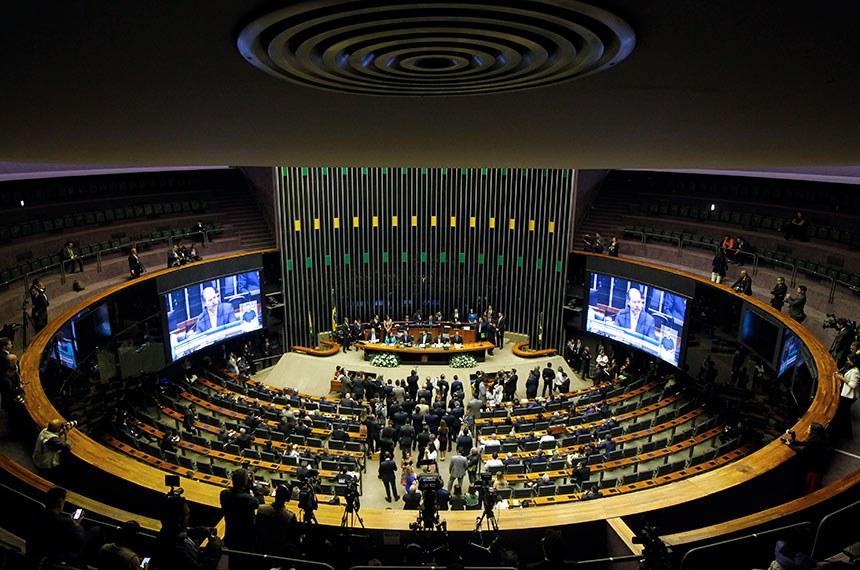 Sessão solene do Congresso Nacional destinada a inaugurar a 2ª Sessão Legislativa Ordinária da 56ª Legislatura.  Foto: Beto Barata/Agência Senado