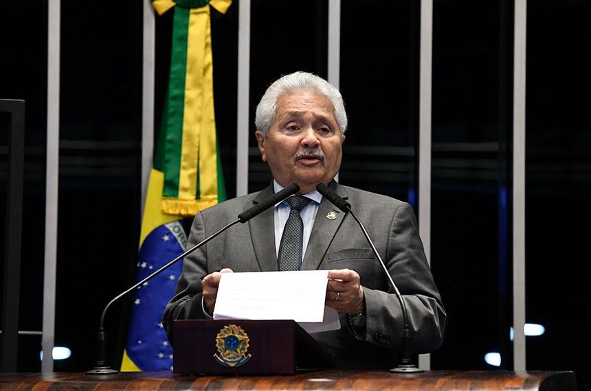 Plenário do Senado Federal durante sessão não deliberativa.   Em discurso, à tribuna, senador Elmano Férrer (Podemos-PI).  Foto: Roque de Sá/Agência Senado