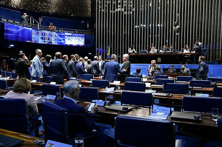 Plenário do Senado Federal durante sessão deliberativa ordinária. Ordem do dia.  Mesa: senador Omar Aziz (PSD-AM);  presidente do Senado, senador Davi Alcolumbre (DEM-AP);  secretário-geral da Mesa, Luiz Fernando Bandeira de Mello Filho;  senadora Kátia Abreu (PDT-TO);  senador Irajá (PSD-TO);  deputado Pedro Lupion (DEM-PR).  Foto: Moreira Mariz/Agência Senado
