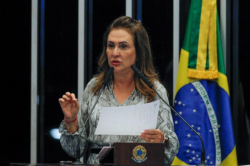 Plenário do Senado Federal durante sessão deliberativa ordinária.   À tribuna, em discurso, senadora Kátia Abreu (PDT-TO).  Foto: Beto Barata/Agência Senado