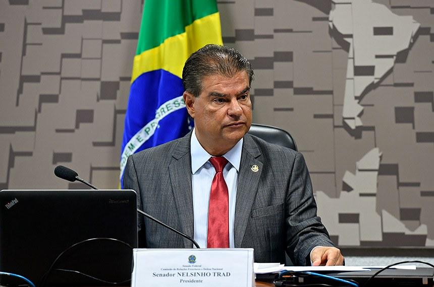 O senador Nelsinho Trad (PSD-MS) apresentou relatório favorável à indicação do diplomata Nestor Forster para chefiar a Embaixada do Brasil nos Estados Unidos