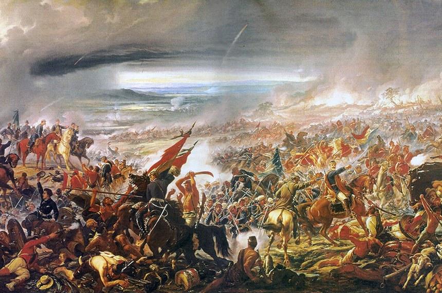 """Retratando a Guerra do Paraguai, """"Batalha do Avaí"""", de Pedro Américo, faz parte do acervo do Museu Nacional de Belas Artes, no Rio de Janeiro"""