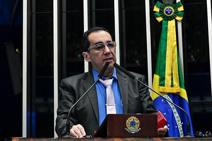 Plenário do Senado Federal durante sessão não deliberativa.   À tribuna, em discurso, senador Jorge Kajuru (Cidadania-GO).  Foto: Jane de Araújo/Agência Senado